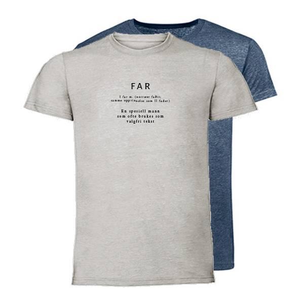 T-shirt Ordbok - Far