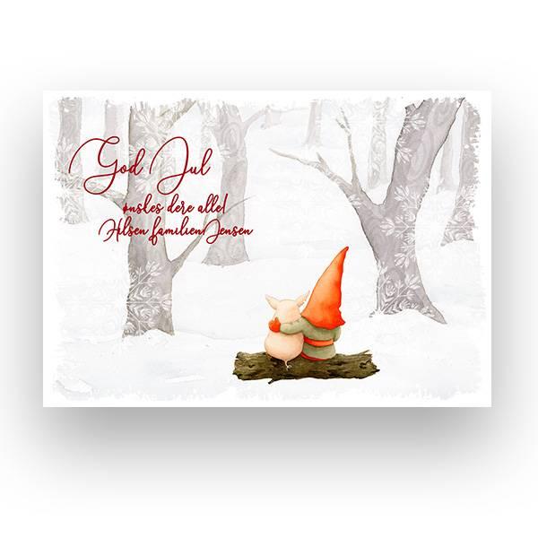 Veggbilde - Julelandskap